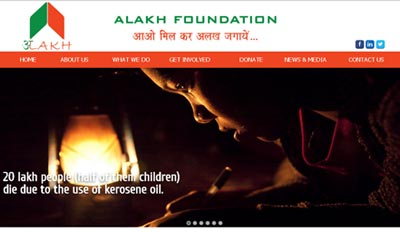Website For NGO Alakh Foundation