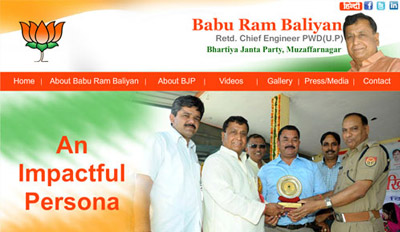 Website Design for Babu Ram Baliyan