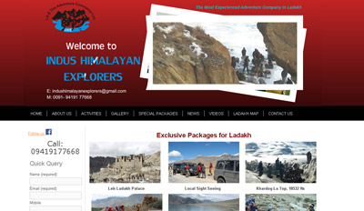 Website For Travel agency in Ladakh