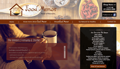 Website for Food Memoir
