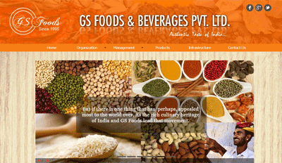 Website for GS Foods