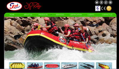 Website for JP Rafts