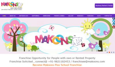Website For Makoons Play School