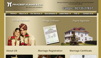 Website for Pradeep Kumar & Co.
