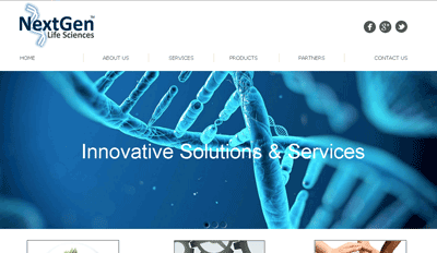 Website for Next Gen Life Sciences