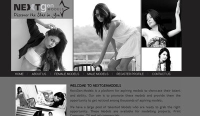 A website for Models