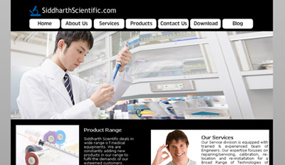 Website for siddharth scientific